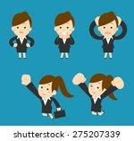 vector cartoon illustration  ... | Shutterstock .eps vector #275207339