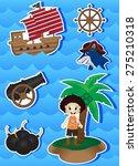 pirates cartoon for your design | Shutterstock . vector #275210318