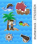 pirates cartoon for your design | Shutterstock . vector #275210324