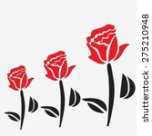 roses isolated with red petals... | Shutterstock .eps vector #275210948