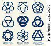business logo set  blue knot... | Shutterstock .eps vector #275213240