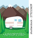 camping vacations in mountains | Shutterstock .eps vector #275213639