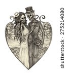 Skull Art Wedding Day Of The...