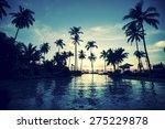 twilight on amazing ocean... | Shutterstock . vector #275229878
