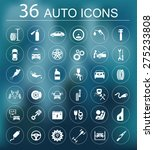 set of car service icons.... | Shutterstock .eps vector #275233808