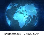 vector digital global... | Shutterstock .eps vector #275235644