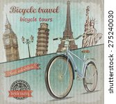 bicycle tour poster. | Shutterstock . vector #275240030