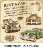 rent a car retro poster.