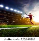 soccer player in action on... | Shutterstock . vector #275244068