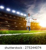 soccer player in action on... | Shutterstock . vector #275244074