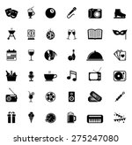 icons set entertainment | Shutterstock .eps vector #275247080