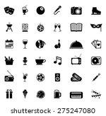 icons set entertainment | Shutterstock .eps vector #275247080