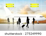 international airport terminal... | Shutterstock . vector #275249990
