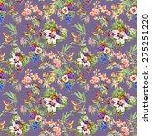 watercolor wild exotic birds on ... | Shutterstock . vector #275251220