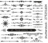 vector set of calligraphic... | Shutterstock .eps vector #275251604