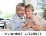 middle aged couple relaxing in... | Shutterstock . vector #275255876