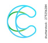 c letter line logo  design... | Shutterstock .eps vector #275256284