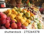 blurry image of fruit in the... | Shutterstock . vector #275264378