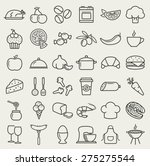food and cooking web icons. set ... | Shutterstock .eps vector #275275544