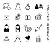 web icon set   wedding ... | Shutterstock .eps vector #275277023