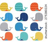 colorful  cute whale collections | Shutterstock .eps vector #275280224