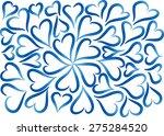 vector heart shapes | Shutterstock .eps vector #275284520