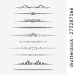 calligraphic page dividers.... | Shutterstock .eps vector #275287166