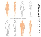 male and female silhouettes.... | Shutterstock .eps vector #275287280