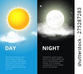 day and night  sun and moon.... | Shutterstock .eps vector #275287283