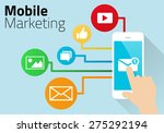 mobile marketing design with... | Shutterstock .eps vector #275292194