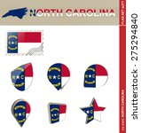 North Carolina Flag Set  Us...