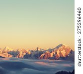 Alpine Landscape With Peaks...