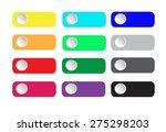 buttons set vector illustration ... | Shutterstock .eps vector #275298203