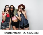three stylish sexy hipster... | Shutterstock . vector #275322383