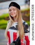 young beautiful teenager girl... | Shutterstock . vector #275331308