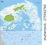 fiji is an island country in... | Shutterstock .eps vector #275332760