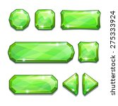 set of green crystal buttons ...