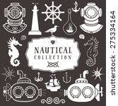 vintage hand drawn elements in... | Shutterstock .eps vector #275334164