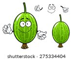 cute cartoon green gooseberry...