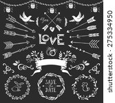 vintage decorative elements... | Shutterstock .eps vector #275334950