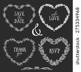 hand drawn rustic vintage heart ... | Shutterstock .eps vector #275334968
