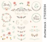 wedding graphic set with swirls ... | Shutterstock .eps vector #275335034