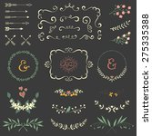 wedding graphic set with swirls