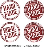 home made and hand made product ... | Shutterstock .eps vector #275335850