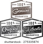 100  authentic genuine original ...   Shutterstock .eps vector #275335874