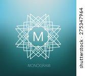 vector geometric monogram.... | Shutterstock .eps vector #275347964