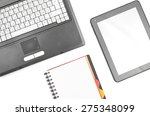 laptop on worplace | Shutterstock . vector #275348099