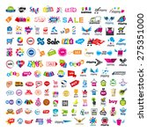 large set of vector logos... | Shutterstock .eps vector #275351000