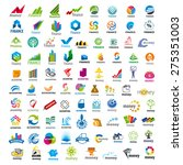 large set of vector logos... | Shutterstock .eps vector #275351003