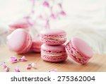 soft pink macarons   Shutterstock . vector #275362004